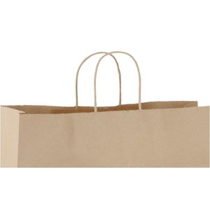 "Kraft Paper Brown Eco Shopping Bag – 12"" x 16"" Image 1 of 2"