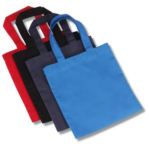 Cotton Sheeting Colored Economy Tote - 9-1/2