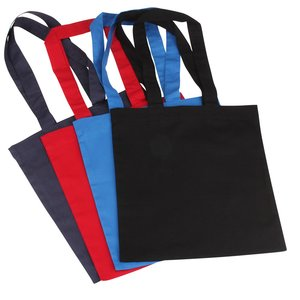 Cotton Sheeting Colored Economy Tote - 12-1/2