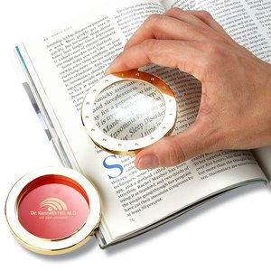 Magnifier and Paperweight - Gold - Laser Engraved Image 1 of 2