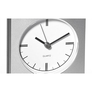 Desktop Analog Clock - Wood Base Image 2 of 2