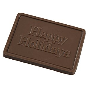 Business Card Chocolate Treat - Happy Holidays
