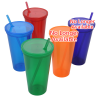 View Extra Image 1 of 1 of Stadium Cup with Lid & Straw - 24 oz. - Jewel - 24 hr