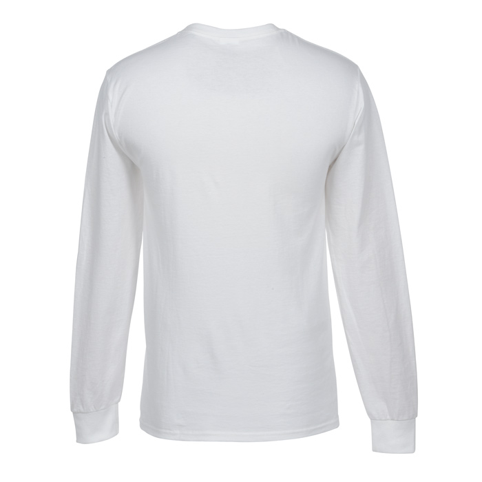 ef42eb65 4imprint.com: Fruit of the Loom Long Sleeve 100% Cotton T-Shirt - White -  Embroidered 3391-W-E