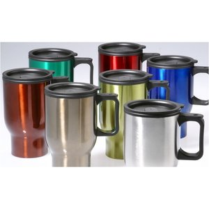 Colored Stainless Steel Travel Mug - 15 oz. Image 5 of 5