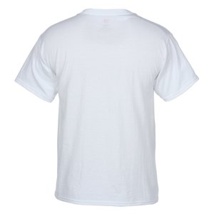 Hanes 50/50 ComfortBlend Pocket Tshirt - White Image 1 of 1