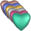 """View Image 3 of 4 of Foil Balloon - 17"""" - Heart"""