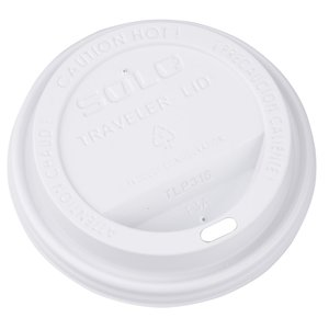 Paper Hot/Cold Cup with Traveler Lid - 12 oz. - Low Qty Image 1 of 1