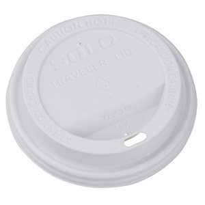 Paper Hot/Cold Cup with Traveler Lid - 16 oz. - Low Qty Image 1 of 1