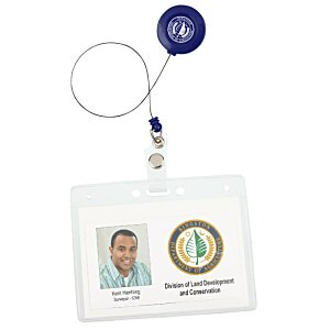 Economy Retractable Badge Holder - Opaque - 24 hr Image 2 of 2