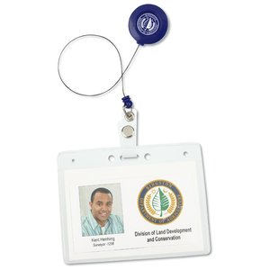 Economy Retractable Badge Holder - Translucent - 24 hr Image 2 of 2