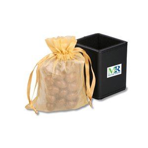 Leatherette Desk Caddy - Dark Chocolate Almonds Image 1 of 3