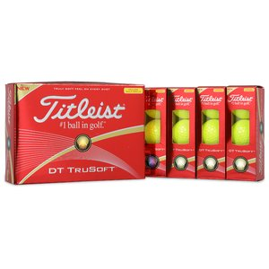 Titleist DT TruSoft Yellow Golf Ball - Dozen - Quick Ship Image 1 of 1