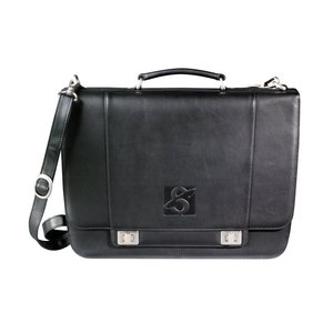 Millennium Leather Deluxe Laptop Saddle Bag