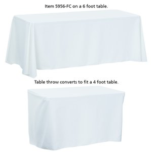 Convertible Table Throw - 4' to 6' - Full Color Image 3 of 4