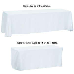 Convertible Table Throw - 6' to 8' - Full Color Image 4 of 5