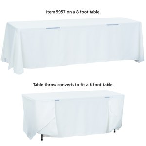 Convertible Table Throw - 6' to 8' - Full Color Image 5 of 5