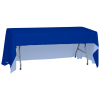 View Extra Image 1 of 5 of Serged Open-Back Polyester Table Throw - 6' - 24 hr