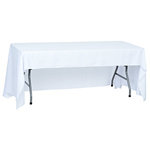 Open-Back Polyester Table Throw - 6' - Front Panel - Full Color Image 2 of 2