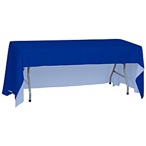 Open-Back Polyester Table Throw - 6' - Full Color Image 2 of 2