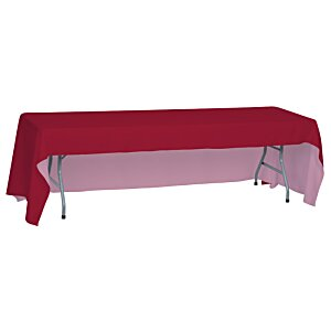 Open-Back Polyester Table Throw - 8' Image 2 of 2