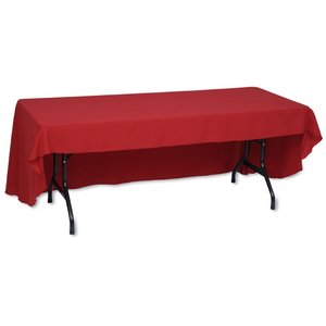 Economy Open-Back Polyester Table Throw - 8' - Heat Transfer Image 1 of 1