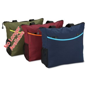 Two-Tone Tote Bag - Exclusive Colors - Embroidered Image 2 of 2