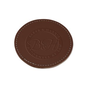 Leather 4-Piece Coaster Set Image 1 of 1