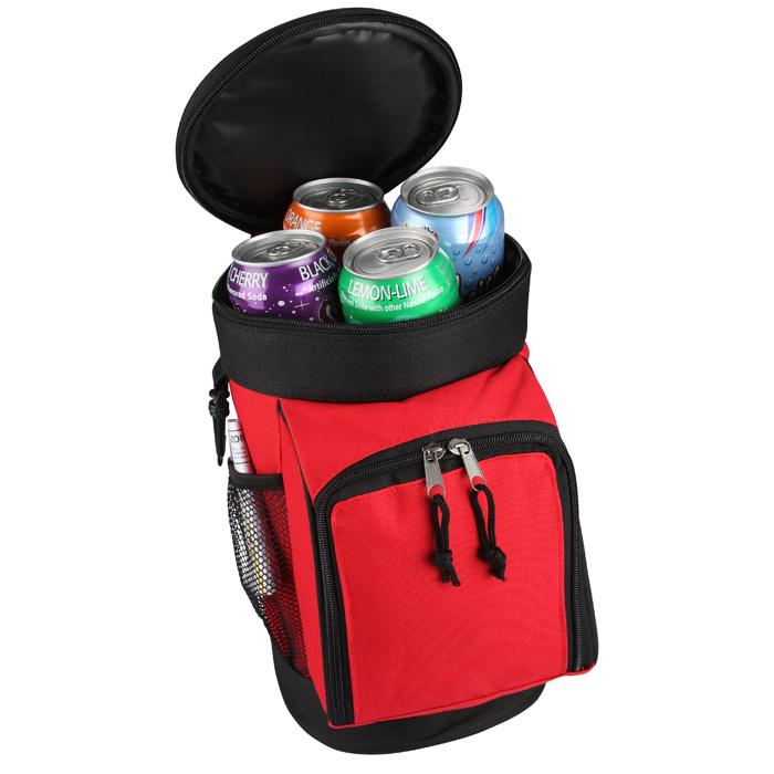 Golf Bag Cooler : Imprint six can golf bag cooler imprinted with
