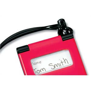 Plastic Flip Luggage Tag with Strap Image 1 of 2
