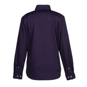 Blue Generation LS Teflon Treated Twill Shirt - Ladies' Image 2 of 3