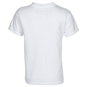 Hanes Tagless T-Shirt - Youth - Screen - White Image 1 of 1