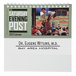 Saturday Evening Post Tent-Style Desk Calendar Image 3 of 6