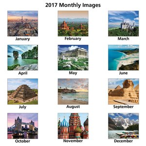 Glorious Getaways Calendar - Spiral Image 1 of 1