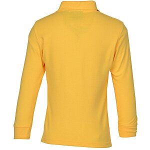 Superblend Long Sleeve Pique Polo - Youth