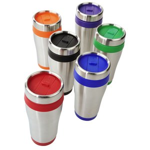 Steel Tumbler with Color Trim - 16 oz. Image 1 of 2