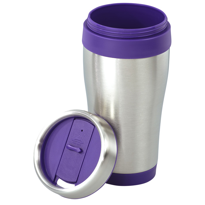 steel tumbler with color trim 16 oz 6915