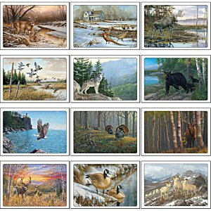 Wildlife Art Pocket Calendar Image 1 of 2