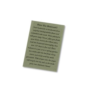 Seeded Message Bookmark - Chive Image 1 of 1