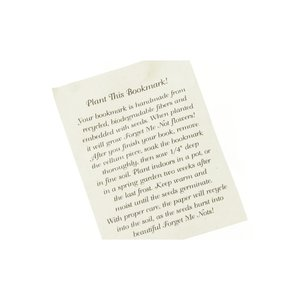Seeded Message Bookmark - Forget Me Not