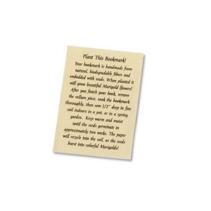Seeded Message Bookmark - Marigold Image 1 of 1