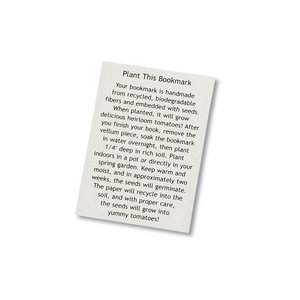 Seeded Message Bookmark - Tomato Image 1 of 1