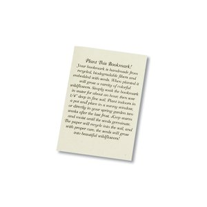 Seeded Message Bookmark - Blue Wild Flower Image 1 of 1