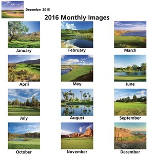Golf Landscapes Calendar - Stapled Image 1 of 1