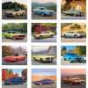 Muscle Cars Calendar - Spiral Image 1 of 1