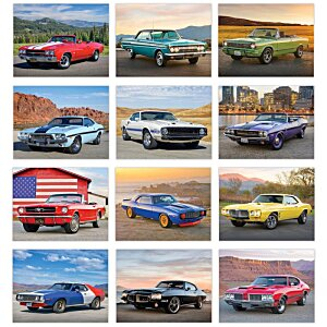Muscle Cars Calendar - Stapled - 24 hr Image 1 of 1