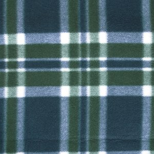 Roll-Up Blanket – Green/Navy Plaid with Navy Flap Image 1 of 3