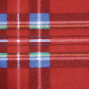 Roll-Up Blanket – Red/Blue Plaid with Red Flap Image 1 of 2