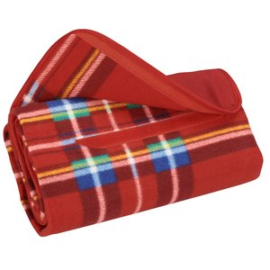 Roll-Up Blanket – Red/Blue Plaid with Red Flap Image 2 of 3