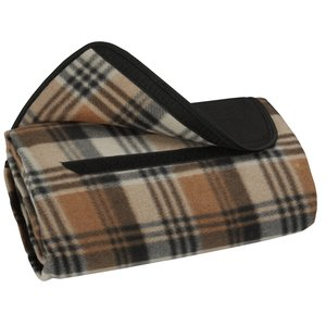 Roll-Up Blanket – Brown/Black Plaid with Black Flap Image 1 of 2
